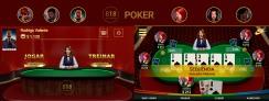 Artes e programação do game Poker 818